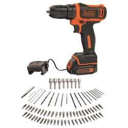 Black And Decker - 108V Ultra Compact Lithiumion Drill Driver with 80 Accessories in Tin - BDCDD12A80T