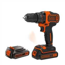 Black and Decker - 18V 2G Drill driver  400mA charger  2 batt  Kitbox - BDCDD186KB