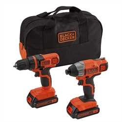 Black and Decker - 18V Lithiumion Drill Driver  Impact Driver Combo - BDCDDIM18B
