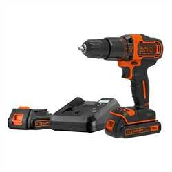Black and Decker - 18V 2G Hammer  1A charger  2 batt  Kitbox - BDCHD18K1B2