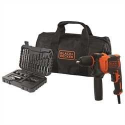 Black And Decker - 710W 1 Gear Hammer Drill with 32 Accessories and Soft Bag - BEH710SA32