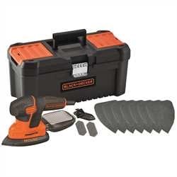 Black and Decker - 120W Next Generation Mouse Sander with 10 Accessories and 16 Toolbox - KA2000KA10