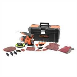 Black and Decker - 220W 4in1 Multisander with 21 accessories in Toolbox - KA280LKA