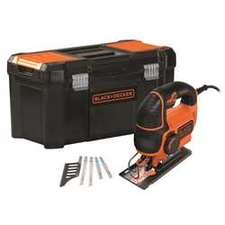 Black and Decker - 620W Variable Speed Pendulum Jigsaw with 5 Blades and Toolbox - KS901PEKA5