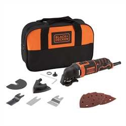 Black and Decker - 300W Oscillating Tool plus 12 Accessories and Storage Bag - MT300SA2