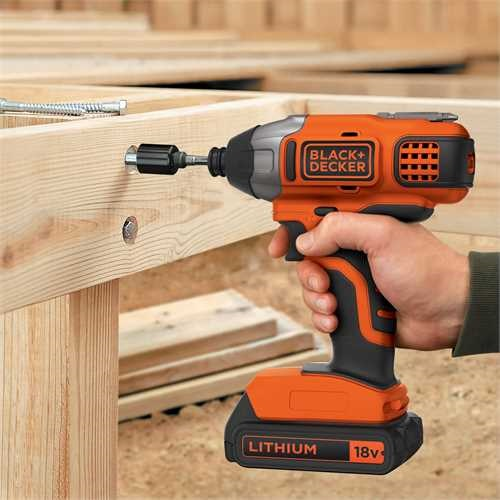 Black and Decker - 18V Lithiumion Cordless Impact Driver without battery and charger - BDCIM18N