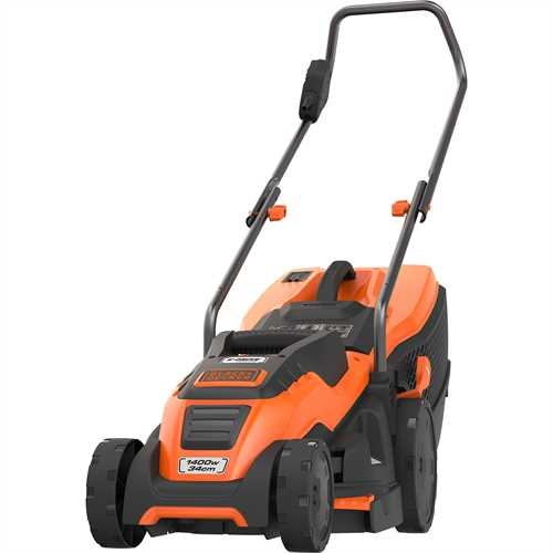 Black and Decker - 1400W 34cm Electric Lawn Mower with Compact and Go - EMAX34I