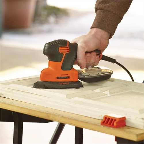 Black and Decker - 120W next generation Mouse sander with storage bag and 6 accessories - KA2000